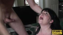 Seks z mega grubą panią