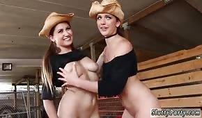 Delikatne kowbojki liżą się po pipkach