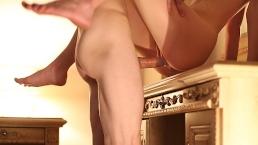 Seks w hotelu z napaloną modelką