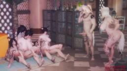 Seks z czekoladowymi suczkami w aucie