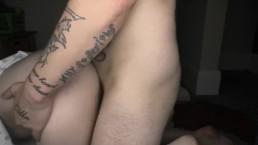 Seks pod namiotem z blond laseczką