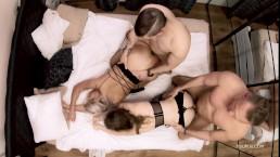 Seks w czworokącie z boskimi laseczkami