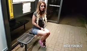 Nocny seks w publicznym miejscu