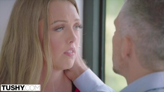 Szare oczko analnie ruchanej blondi