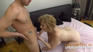 Mama creampie seks wideo