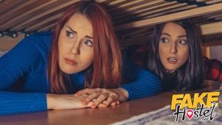 Numerek w hostelu z dwiema studentkami