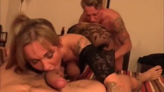 Seks w trójkącie z poderwaną imprezowiczką