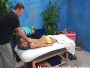 Fajne podglądanie sex masażu