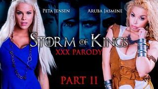 Brazzers – Aruba Jasmine, Peta Jensen Storm Of Kings XXX Parody: Part 2